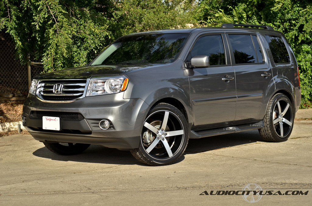 Honda Pilot Custom Wheels Vossen Cv3 22x9 0 Et Tire