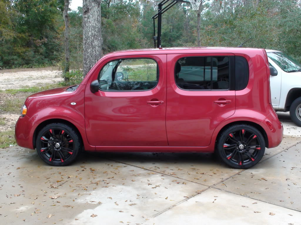 nissan cube custom wheels enkei gw8 18x7 5 et 42 tire. Black Bedroom Furniture Sets. Home Design Ideas