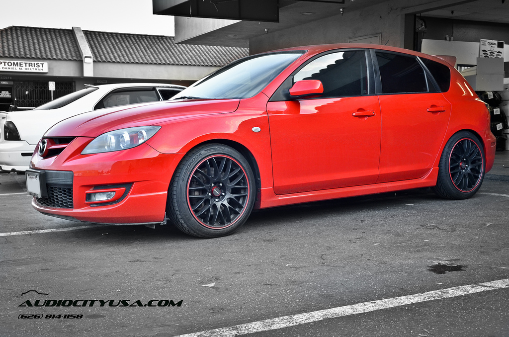 mazda mazdaspeed3 custom wheels tenzo type m 18x8 0 et tire size 215 45 r18 x et. Black Bedroom Furniture Sets. Home Design Ideas