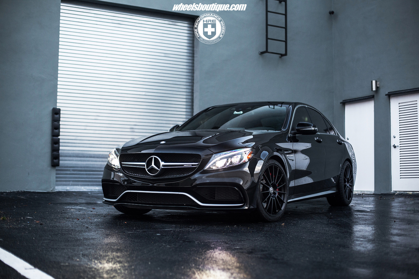 mercedes benz c class custom wheels hre ff15 19x9 0 et