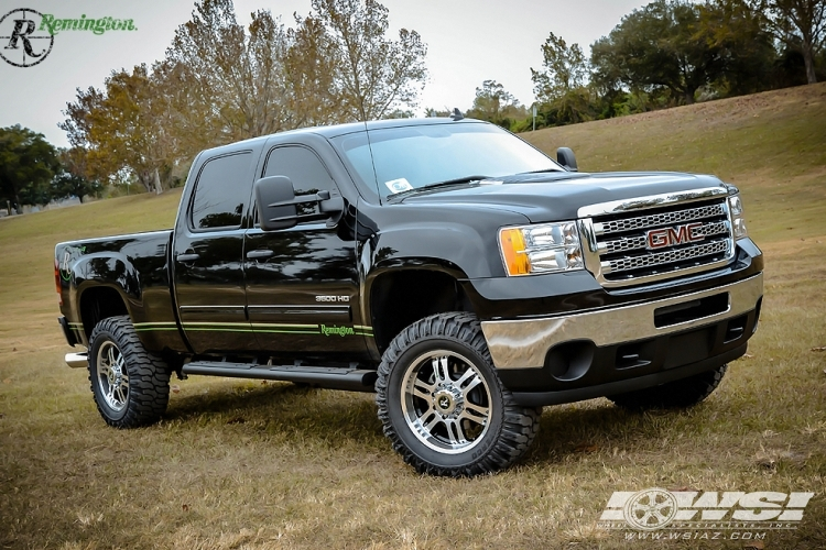 gmc sierra 1500 custom wheels remington trophy 20x et. Black Bedroom Furniture Sets. Home Design Ideas