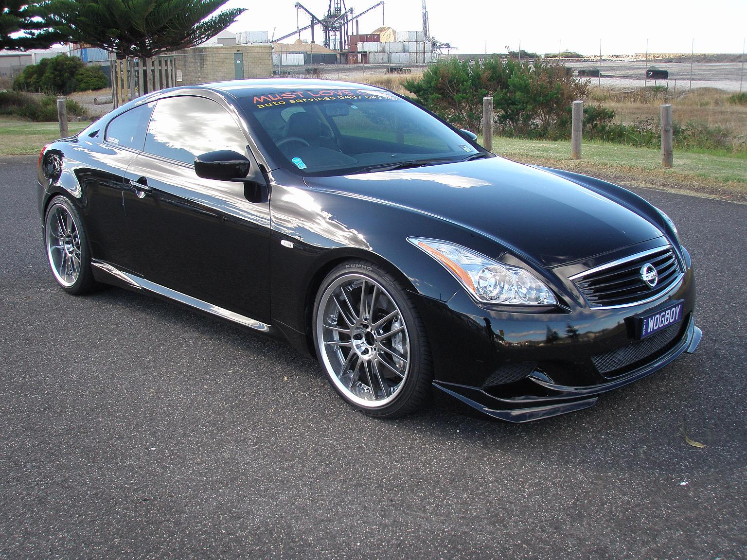infiniti g37 custom wheels rays gt30 20x9 5 et 35 tire. Black Bedroom Furniture Sets. Home Design Ideas